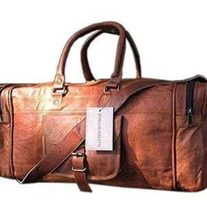 Brown Leather Duffel Travel Bags C CUERO