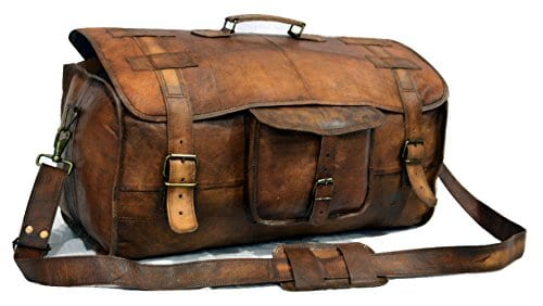Leather Duffel Travel Gym Overnight Weekend Leather Travel Bags Sports Cabin