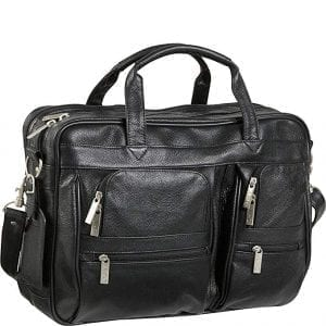 Black Leather Laptop Travel Bags AmeriLeather