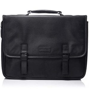 Black Leather Travel Briefcases Alpine Swiss